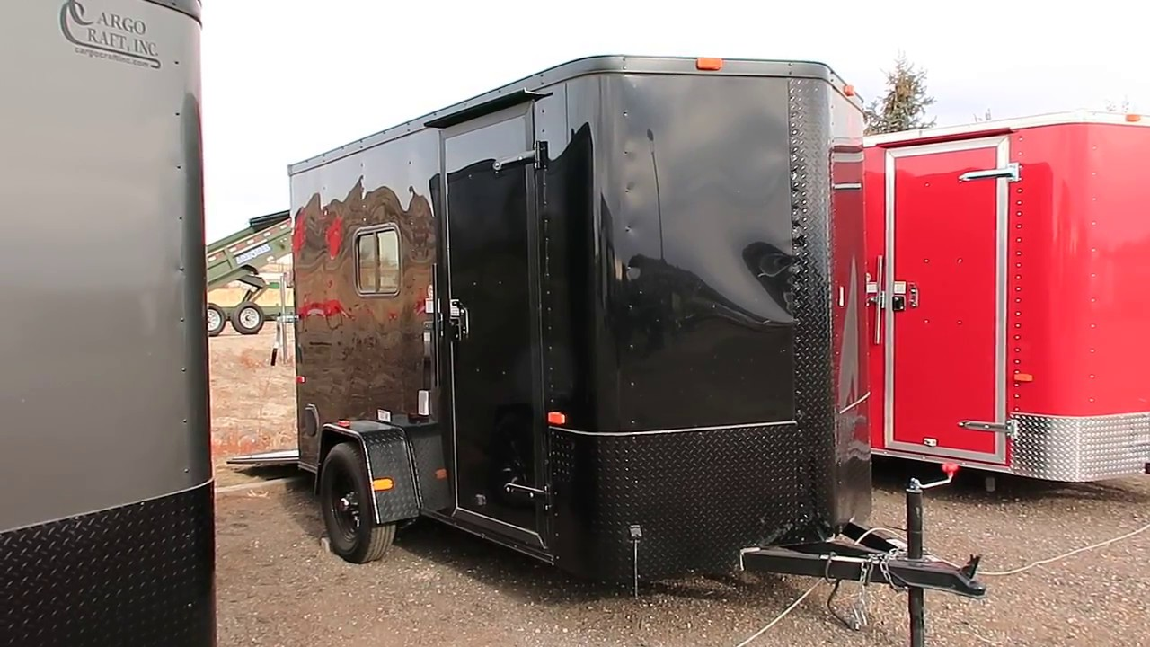 New 6x12 Black Out Cargo Trailer Insulated With Power