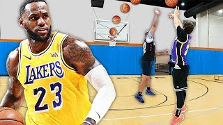 Recreating Lebron James Greatest BUZZER BEATERS - Challenge