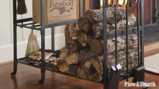 All-In-One Wood Rack with Tools SKU# 66C48 - Plow & Hearth