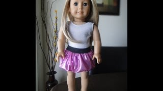No Pattern Bubble Skirt For American Girl Dolls