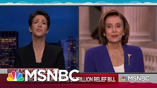 Pelosi: $2 Trillion Relief Package 'The Least We Can Do' | Rachel Maddow | MSNBC