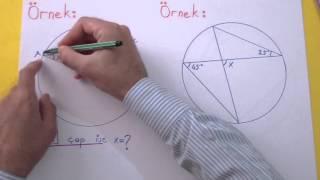 Çemberde Açılar 1 Şenol Hoca Matematik