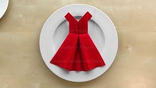 Baixar Servietten falten: Kleid 👗 Einfache Tischdeko basteln mit Papier-Servietten