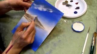 Мастер-класс живописи маслом: Цветущая сакура(Каждый четверг мы проводим уроки живописи по адресу: ул. Б. Дмитровка, 9. Записывайтесь и приходите: 8919-966-14-66., 2013-03-30T21:39:54.000Z)