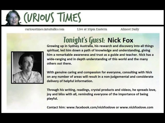 Curious Times – Nick Fox, Spiritual Guide