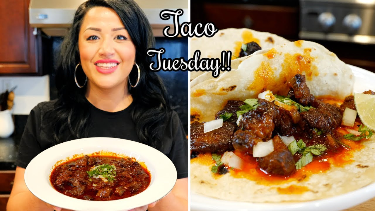 The Best Carne Con Chile Colorado Tacos Chili Con Carne Views On The Road Recipe Youtube