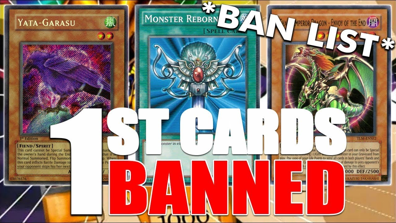FIRST EVER BANNED YUGIOH CARDS! FIRST BAN LIST AUGUST 2004 RETRO FORMAT!