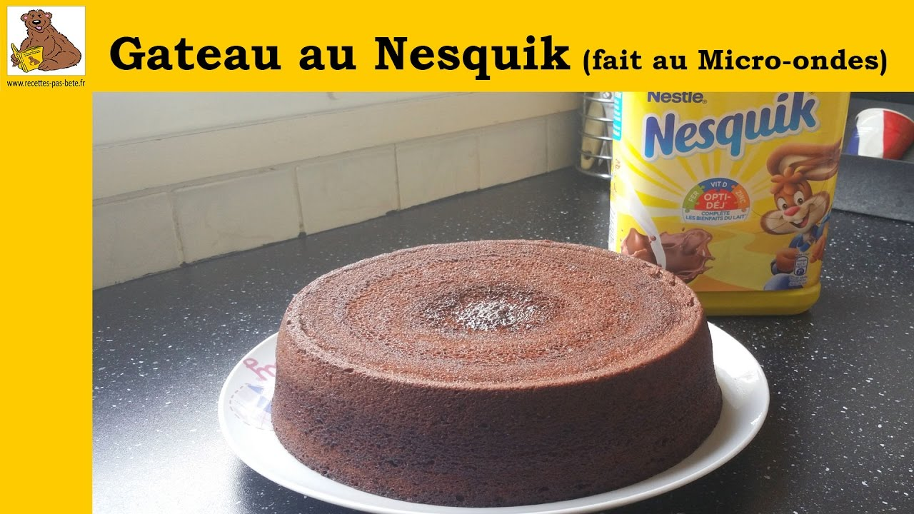 gateau au nesquik fait au micro ondes recette rapide et facile youtube. Black Bedroom Furniture Sets. Home Design Ideas