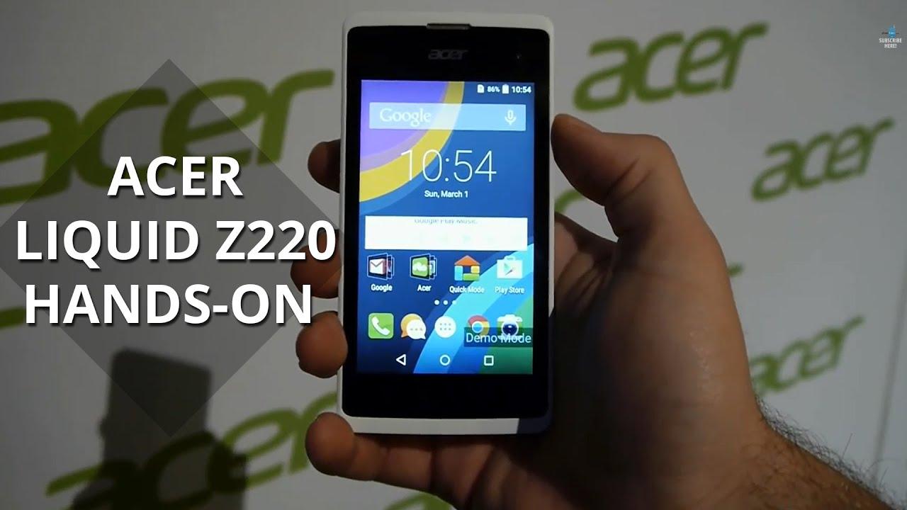 Acer Liquid Z220 Hands On