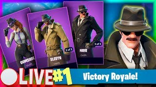 FORTNITE | NEW SKINS! AF THE DETECTIVE | TOP 20 SOLO WINS EN | 402 WINS | Livestream