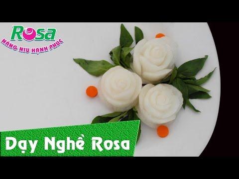 Tỉa hoa hồng bằng củ cải trắng