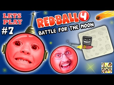 REDBALL 4 is BACK!  Chase & Dad go to SPACE 2 Battle for the Moon Levels 46-55 (Part 7 Gameplay)
