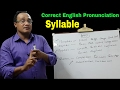 English Pronunciation, Syllable (Lecture- 7) ll