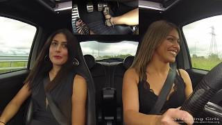 Fast Driving Girls - Chiaretta & Ire, Fiat 500 Abarth Esse Esse - High Heels - (V093)