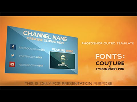 FREE Professional 2D Outro Template #9 Photoshop Template (with - free outro template