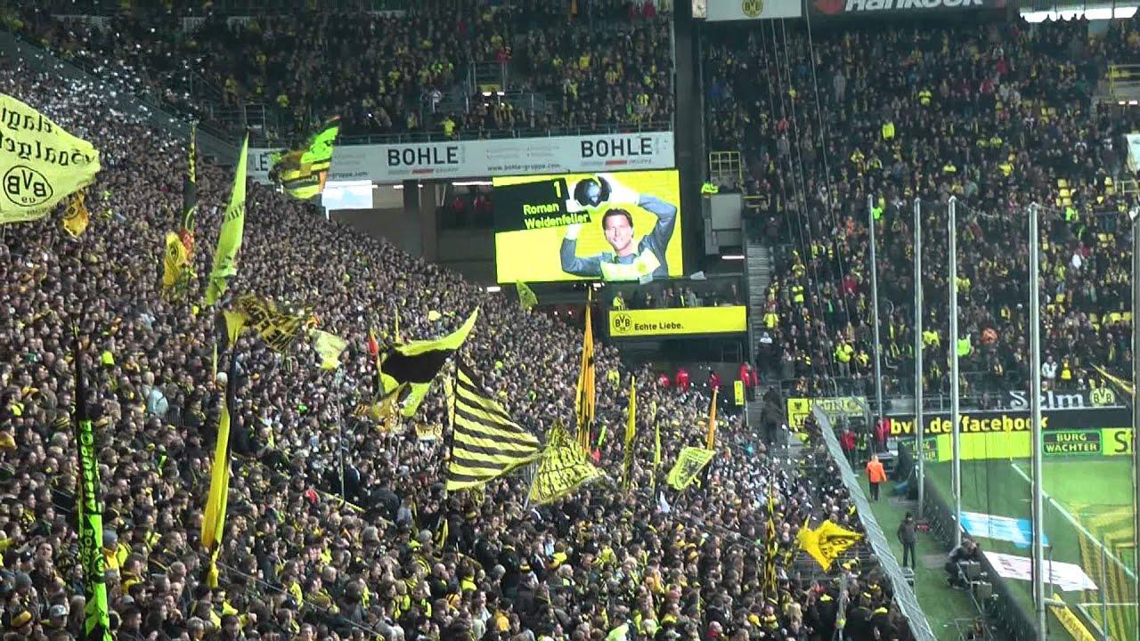 Stimmung BVB - Freiburg 5-1 Vor dem Spiel - Borussia Dortmund atmosphere Südtribüne