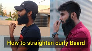Best and simple meтhod to Straighten your curly beard | Men's grooming | Beard tips Tamil |