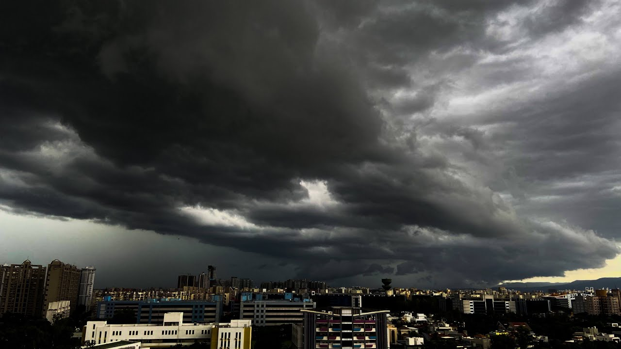 Color Changing Clouds   One Day Time-Lapse   Pune Monsoon   Stay At Home