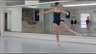 Ballet Arts of Austin: Advanced technique class, Summer Intensive 2016, allegro, jumps, pointe