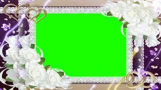 Blume, Rahmen, Hochzeit Hintergrund-Full HD || DMX-HD-BG 241