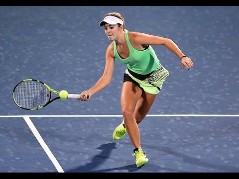 2017 Dubai Duty Free Tennis Championships Round of 16   Cici Bellis vs Radwanska   WTA Highlights