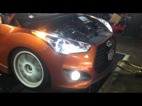 hyundai veloster turbo full bolt ons and tune dyno - YouTube