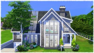 The Sims 4: Speed Build // FAMILY HOUSE WITH GARAGE // NO CC