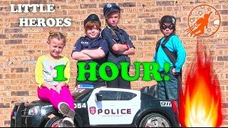Little Heroes Compilation Video from New Sky Kids - 1 Hour with Fire Engines + Kid Police and More!