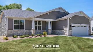 Ranch House Tour of New Home in Pleasant Prairie Wisconsin by US Shelter Homes