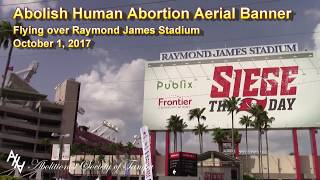 AHA Aerial Banner over Raymond James Stadium