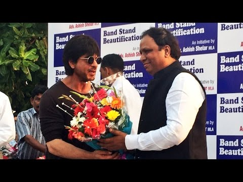 FULL Event - Shahrukh Khan At Bandstand Beautification Event In MUMBAI