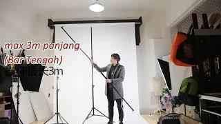 Backdrop Stand Heavy Duty @shopee Lazada Malaysia
