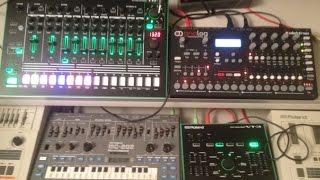 7X7-TR8 techno jam with MC202 + Analog Four + VT3 by Honeysmack