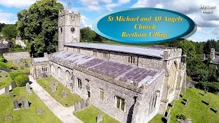 Aerial video of Beetham Church (St Michael and All Angels) in HD