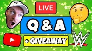 🔴 WRESTLING YOUTUBER Q&A LIVE ***Giveaways***