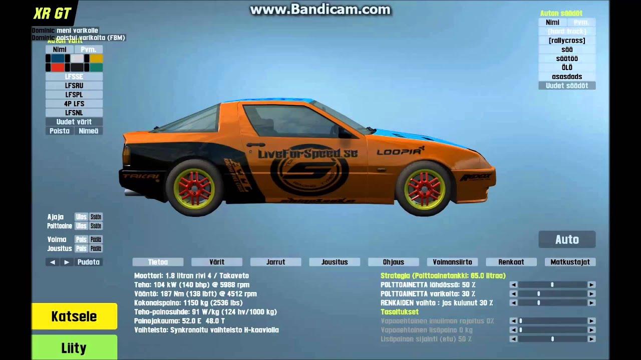 F  Game Car Setups