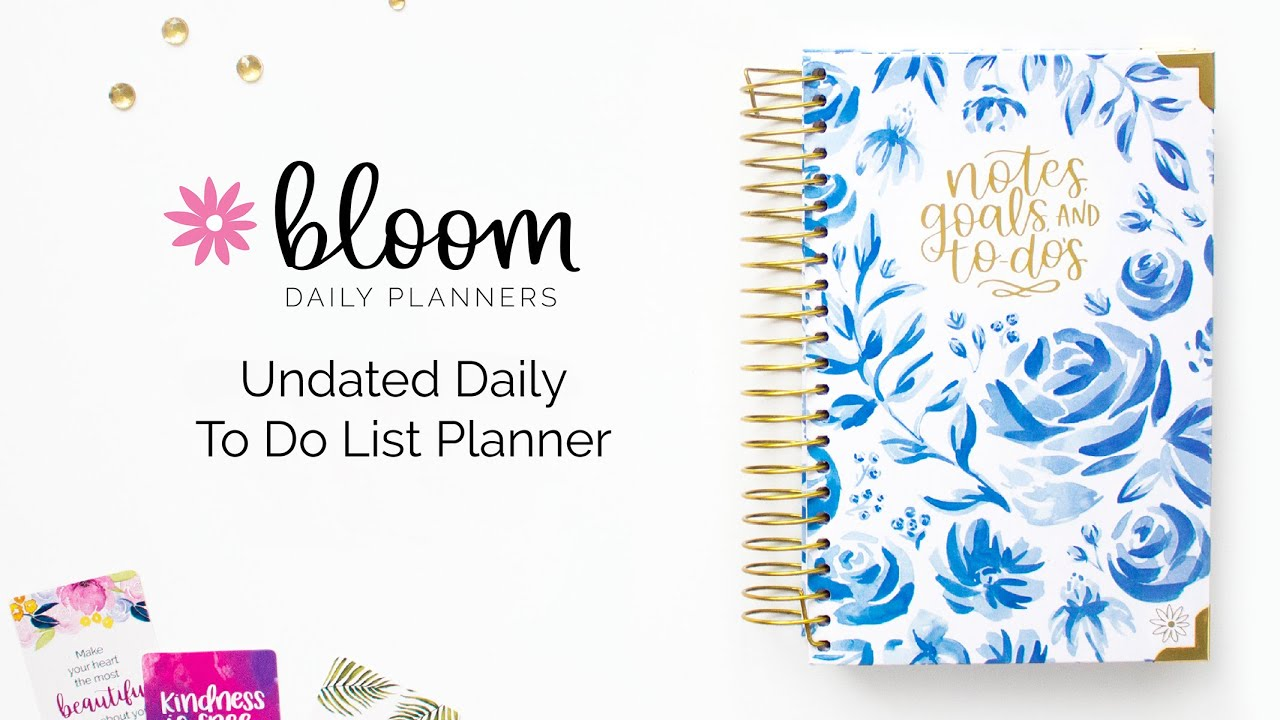 bloom daily planners undated daily to do list planner walkthrough