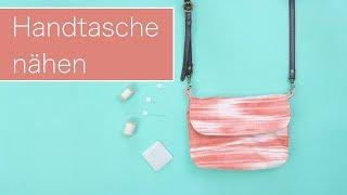 Nähanleitung: Einfache Handtasche nähen   Kostenloses Schnittmuster  