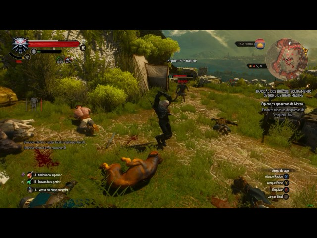 The Witcher 3 - Voando com o bruxão