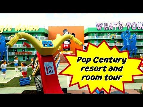 Disney's Pop Century Resort | Resort and refurbished room tour 2017