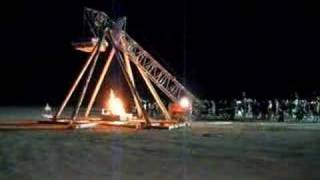 Flaming Piano Tossed By Trebuchet