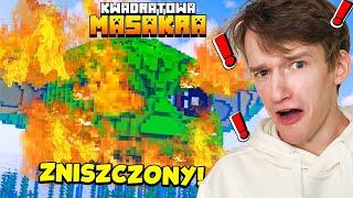 KTOŚ ZNISZCZYŁ BABY YODE... + ŚPIEWAMY TSUNAMI XD - Minecraft Kwadratowa Masakra