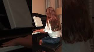 Burn from Hamilton - 11 year old plays and sings