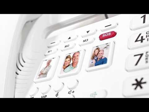 Großtasten-Telefon mit Nummernansage und Notruftaste Geemarc oCean400