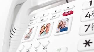 Produktvideo zu Großtasten-Telefon mit Nummernansage und Notruftaste Geemarc oCean400