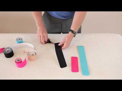 How to Prepare, Cut And Shape Kinesiology Tape (Cara Penyediaan Kinesiology Tape)