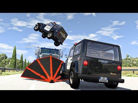 Police Car Chases #25 - BeamNG DRIVE   SmashChan