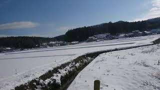 2018年1月23日 水戸線福原駅手前 雪景色 thumbnail