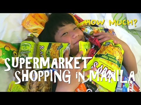 [Min&Dad] Supermarket Shopping in Manila, Philippines