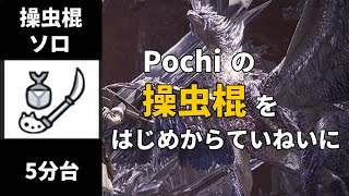 【MHWI】歴戦王イヴェルカーナ 操虫棍 ソロ 5分台【非火事場】 /Arch Tempered Velhkana Insect Glaive solo【Non Heroic】